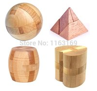 bamboo interlock - IQ Test D Wooden Bamboo Interlocking Puzzle Game Toy for Adults and Kids