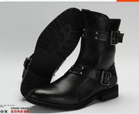 Wholesale 2014 New Men Martin Boots Tide Retro Motorcycle Ankle Boots Autumn Winter Artificial Nubuck Leather