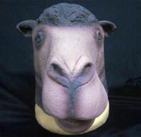alpaca hair - The new hair donkey alpaca mask Lovely alpaca head party bar model show spoof mask