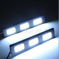 Wholesale 1Pair LED COB Car Auto DRL Driving Lamp Daytime Running Fog Light White New Hot