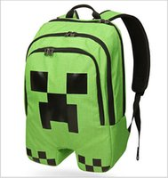 Wholesale 2015 AAA quality men women unisex minecraft kid boy girl baby student school bag leisure backpack outdoor single shoulder bag TOPB1683