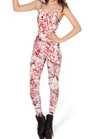 Cheap HOT 2013 SEXY Fashion BLOOD SPLATTER CATSUIT Teddy Overall Clothes Club Costume Jumpsuit For Women S126-19 FG1510