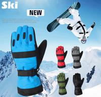 Wholesale Men Ski Gloves Winter Sport Gloves Finger Cotton Heated Waterproof Windproof Mittens Snowboard Bike Cycling