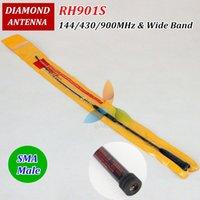 Wholesale DIAMOND RH S SMA Male Dual Band VHF UHF High Gain Antenna RH901S For Walkie Talkie ZT R UV UV R TH UVF9 etc