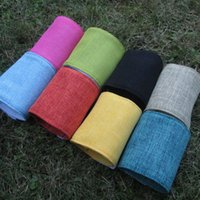 Wholesale Wholsale Blanks Unique Colorful Jute Can Cooler Bottle Wrap in colors Wedding Gift DOM106117