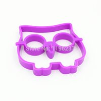 Wholesale Owl Molds for Eggs Egg Ring Owl Silicone Mold for Cooking Eggs Without Shell Breakfast Supplies Tools Kitchen Gadgets