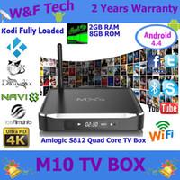 tv antenna - Metal Quad Core MXQ M10 Android TV Box Amlogic S812 WiFi Antenna Kodi Fully Loaded IPTV Box GB GB M10 TV Box