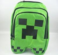 Wholesale MOQ Minecraft Backpack Game My World Children School Bags Kids Boys Mochila Double Shoulder Bag Block Coolie Strange