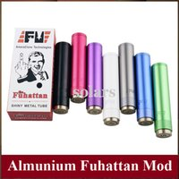 Wholesale Colorful Fuhattan Vape Mod Aluminum Mechanical Mod use Battery vs Manhattan Apolo Telscope CMII Tesla Shotgun Overdose SMPL