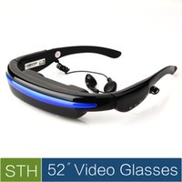 Wholesale Virtual Private Theater System Display HD D Stereo GB Flash Video Glasses