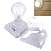Wholesale White Stick Up Lights Cordless Wireless Battery Operated Night Light Portable Bulb Licht Cabinet Closet Lamp