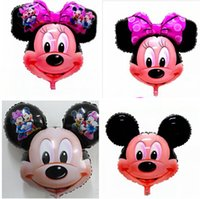 balloons gift bag - 50PCS Bag Minnie Mickey Foil balloons Aluminum Film Balloon latex Toy Birthday Party Supplies Decoration Christmas Gifts aluminium ballons