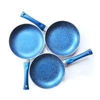 aluminum frypan - CERAMIC COATING SAFE FRYPAN FDA COOKING POT STEAK FRYPAN ALUMINUM COOKING PAN BLUE CM