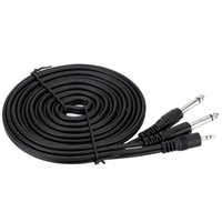 Wholesale High Quality ft m mm Stereo Male to Dual mm Mono Male Cable Wire for Computer Mixer Mixing Console order lt no track