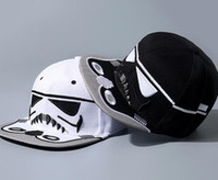 Cheap Star Wars Trooper baseball caps Darth Vader Stormtrooper snapback ball cap cartoon superhero hats black white christmas gift drop shipping