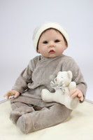 baby smile photo - 22 Inches Silicone Vinyl Reborn Baby Dolls Boy Smiling Real Photo Handmade Bonecas Reborn Baby Alive Toys Girls Birthday Gift