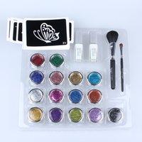 glitter tattoo kit - Professional Temporary Tattoo Glitter Tattoo Kit Glitter Tattoo Powder with White Gel For Body Art