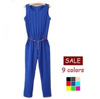 Cheap Summer 2015 Women Overalls Bodycon Palazzo Pants Jumpsuit Female Coveralls Playsuit Macacao Combinaison Salopette Plus Size LT11