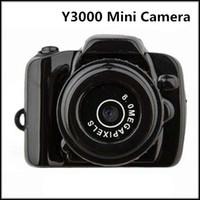 Wholesale Portable Smallest P HD Webcam Mini Camera Y3000 Video Recorder Camcorder DV DVR Freeshipping VS Y2000 MINI CAMERA