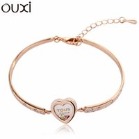 best discount coupons - Best Quality Big Coupon amp Discount Crystal Women Bangle Jewelry Pulseira Bijuterias White Gold Plated Bangles OUXI BLA050