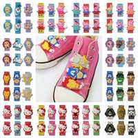 animal print decorations - 500pcs Star wars Hello Kitty Pink pig Avengers Elsa shoelace pvc shoe decoration cartoon shoe buckle Shoelace Charms shoe accessories clips
