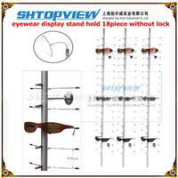 display board - NOC C PC CM sunglasses aluminum alloy display rod stand rack without lock eyewear rod show shelf board