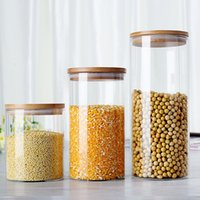 glass canister set - 3 Pc Set mason jars glass jars and lids tea canister cookie jar ml ml ml