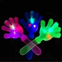 Wholesale 28CM big size led flashing clap clappers trap Hands Cheer the props Advertising promotion noise making party KTV bar saloon x mas happy toys
