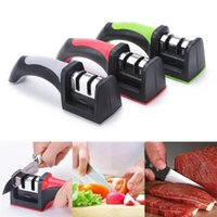 Wholesale New Arrivals Household Sharpening Stone Kitchen Storage Knife Sharpeners Stages Stainless Steel Plastic Handle CX265