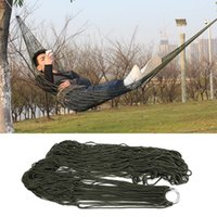 Cheap Promotion! 270x80cm New Portable High Quality Army Nylon Hammock Hanging Mesh Net Sleeping Bed Swing Outdoor Camping Travel