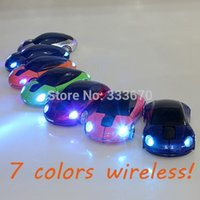 Wholesale New Mini Ghz DPI m Wireless Car Shape Colorful USB LED Optical Mouse Mice For PC Laptop Notebook