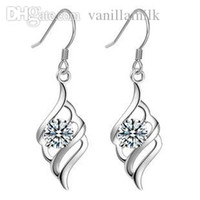 Wholesale Gorgeous Guarantee Pure Sterling Silver Crystal Earrings Fashion Jewelry Can Drop Ship DD008 A