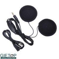 Wholesale Motorbike Motorcycle Helmet Stereo Speakers Earphones Headset for Phone MP3 Ipod Music Device Black