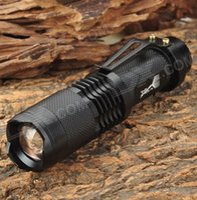 Wholesale UltraFire SH98 Cree T6 lm Mode White Light Zooming led Flashlight w Cree XM L T6 Black x battery