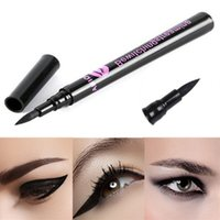 Wholesale 2015 cheap Hot Black Waterproof Eyeliner Liquid Eye Liner Pen Pencil Makeup Beauty Cosmetic woman Eyeliner pieces