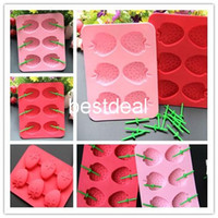 Wholesale strawberry ice mold cool ice trays in hot Summer innovative shape kitchen silicone ice cube mould of Strawberry ice pattern