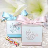 asia manufacturers - 120pcs baby shower paper matte box cake box for newborn baby cute sweet box manufacturer with ribbon