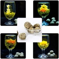 Wholesale 4 Balls Different Handmade Blooming Flower Green Tea Home Wedding Gift ON6 ORU