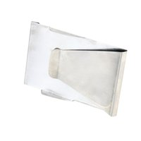 Wholesale Multifunction Silver Money Clip Double Sided Stainless Steel Money Clip Cash Business Card Credit Card Clip