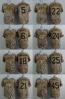 Wholesale Pittsburgh Pirates Josh Harrison Cole camo jersey baseball jerseys size M XXXL Pittsburgh Pirates baseball jerseys