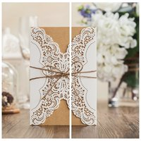 beaded cards - Top Sale Laser Cut Wedding Invitations Cards Hollow Personal Customized Wedding Suppliers Cards Beaded For Bridal Wedding