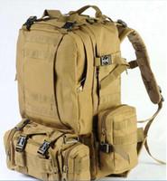 backpack shoulder bag combo - High quality canvas shoulders bag large wild jungle camouflage backpack Digital Combo Pack