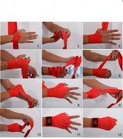 Wholesale 1pair CM Colorful Boxing Handwraps Bandages Wrist Hand Wraps Training Gloves New and Hot Selling