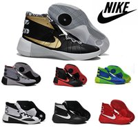 elastic band for shoes - Nike Hyperdunk Classic Basketball Shoes For Men Hight Cut New Authentic Retro Trainers Mens Sports Boots Sneakers