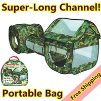 Cheap free shipping tunnel crawl ,camouflage color, army game,soft play outdoor tents for kids, baby crawling tube game children tent,