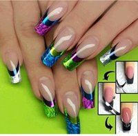 Wholesale D Color Design Manicure Tips French Nail Art Transfer Stickers Decal Decoration