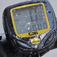Wholesale Waterproof LCD Bicycle Computer Display Bike Cycling Sports Odometer Speedometer SD C Functions Yellow New