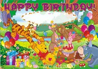 Wholesale Birthday banner CM zoon party Hot sales can write the name