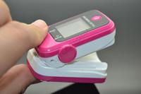 venda por atacado finger oximeter-Portable Finger Oximetro Monitor Cuidados de saúde LED Fingertip Pulse Oximeter Sangue Oxigênio SPO2 PR Saturation