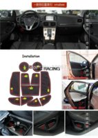 Wholesale SET Silicon Non Slip armrest storage mat Auto car Floor Mat Pad For Volvo V40